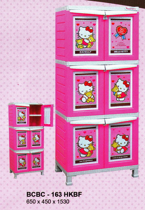 lemari plastik, hello kitty lemari plastik, napolly hello kitty